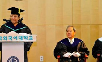 Hankuk University of Foreign Affairs Confers Honorary Doctorate on Lok Sabha Speaker Sumitra Mahajan
