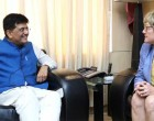 Ambassador of Finland to India, Nina Vaskunlahti meeting the MoS for Power, Coal, New and Renewable Energy and Mines (IC), Piyush Goyal,