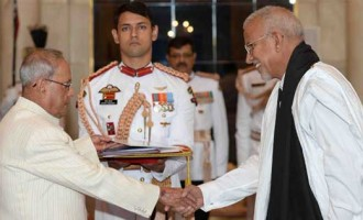 Ambassador-Designate of Mauritania, Sidi Mohamed Hanene presenting his credentials to the President, Pranab Mukherjee