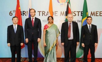 MoS for Commerce & Industry (IC), Nirmala Sitharaman at the 6th BRICS Trade Ministers' Meeting
