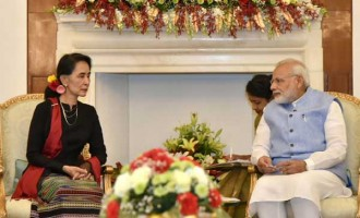 Modi meets Aung San Suu Kyi