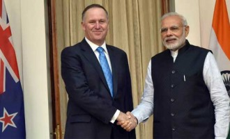 New Zealand PM accorded ceremonial welcome