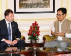 Deputy Minister of Internal Affairs of Kazakhstan, Yuri Ilyin calling on the MoS for Home Affairs, Kiren Rijiju,
