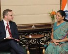 MoS for Commerce & Industry (IC), Nirmala Sitharaman in a bilateral meeting with the Minister for Enterprise and Innovation of Sweden, Mikael Damberg,