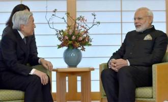 Modi calls on Japanese Emperor