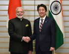 Prime Minister, Narendra Modi with the Prime Minister of Japan, Shinzo Abe,
