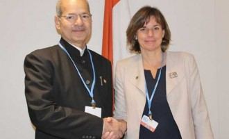 MoS for Environment, Forest and Climate Change (IC), Anil Madhav Dave and the Swedish Minister for International Development Cooperation & Climate and Deputy Prime Minister, Isabella Lovin