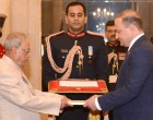 Ambassador-designate of Georgia, Archil Dzuliashvili presenting his credentials to the President,