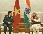 The Defence Minister of Vietnam, General Ngo Xuan Lich calls on the Prime Minister, Narendra Modi,