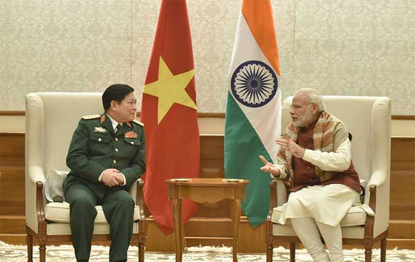 The Defence Minister of Vietnam, General Ngo Xuan Lich calls on the Prime Minister, Narendra Modi, in New Delhi on December 05, 2016. The Defence Minister of Vietnam, General Ngo Xuan Lich calls on the Prime Minister, Narendra Modi, in New Delhi on December 05, 2016.