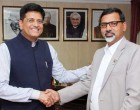 Minister of Energy, Nepal, Janardan Sharma Prabhakar meeting the MoS for Power, Coal, New and Renewable Energy and Mines (IC), Piyush Goyal
