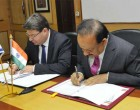 Minister for Science & Technology and Earth Sciences, Dr. Harsh Vardhan and the Minister of Science, Technology and Space, Israel Ofir Akunis