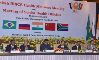 Minister for Health & Family Welfare, J.P. Nadda addressing the Health Ministers from BRICS member