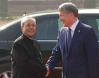 Kyrgyz President accorded ceremonial welcome