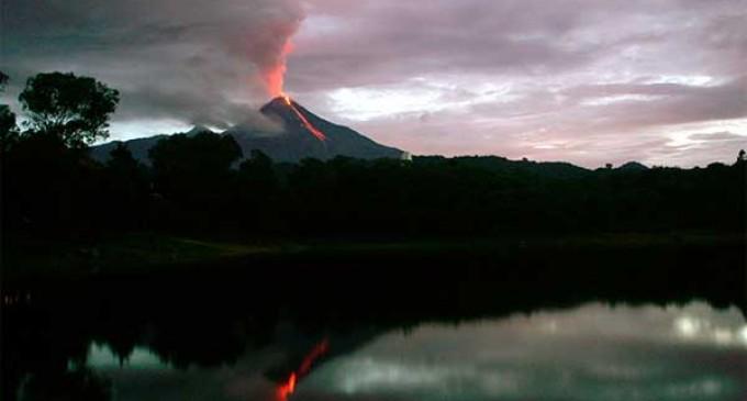 Mexico's Colima volcano belches mile high smoke column