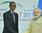 Prime Minister, Narendra Modi meeting the President of Rwanda, Paul Kagame