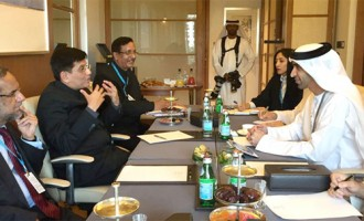MoS for Power, Coal, New and Renewable Energy and Mines (IC), Piyush Goyal in a bilateral meeting with the Minister of Climate Change and Environment, UAE, Dr. Thani Ahmed Al Zeyoudi