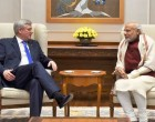 The former Prime Minister of Canada, Stephen Harper calling on the Prime Minister, Narendra Modi