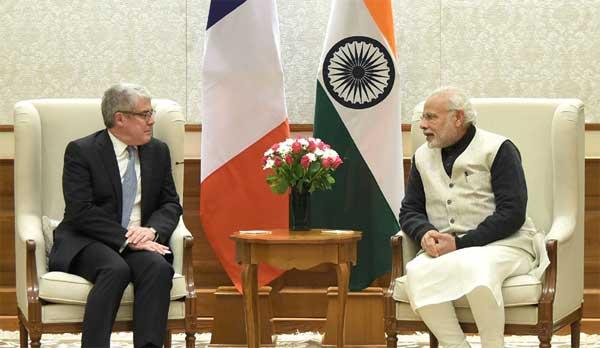 Diplomatic Advisor to the French President, Jacques Audibert calls on the Prime Minister, Narendra Modi.