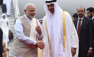 Modi receives Abu Dhabi Crown Prince at airport