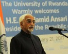 India a strong development partner of Rwanda: Ansari