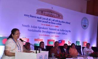 'South Asian nations must work to achieve goals for peace' : Lok Sabha Speaker Sumitra Mahajan