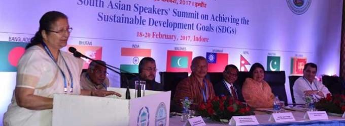 'South Asian nations must work to achieve goals for peace' : Lok Sabha Speaker Sumitra Mahajan