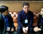 Diplomacyindia Exclusive Video Interview with Editor of Mohalla Newspaper published in Uzbekistan