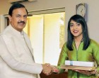 House Leader and Minister of Small Business and Tourism, Canada, Ms. Bardish Chagger calls on the MoS for Culture and Tourism (IC), Dr. Mahesh Sharma