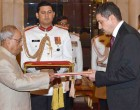 ENVOYS OF FIVE NATIONS PRESENT CREDENTIALS TO PRESIDENT OF INDIA