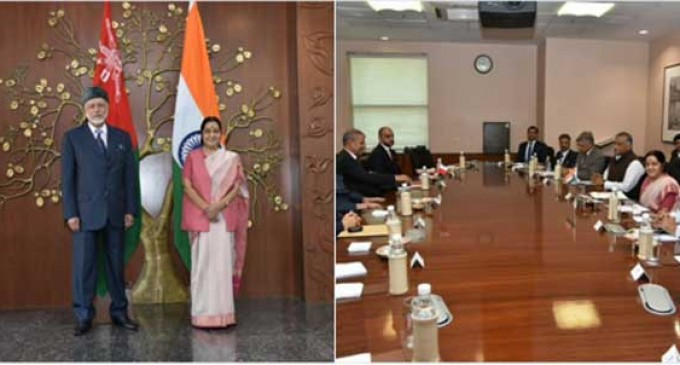 Sushma meets Oman Foreign Minister