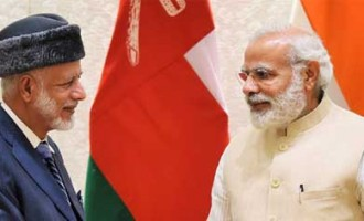 Oman Foreign Minister, Yousuf bin Alawi bin Abdullah calls on the Prime Minister, Narendra Modi,