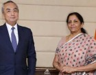 Ambassador of Japan to India, Kenji Hiramatsu calling on the Minister of State for Commerce & Industry (IC), Nirmala Sitharaman
