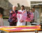 Prime Minister of Australia, Malcolm Turnbull paying floral tributes at the Samadhi of Mahatma Gandhi
