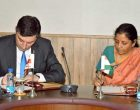 MoS for Commerce & Industry (IC), Nirmala Sitharaman and the Minister of Economy and Sustainable Development of Georgia, Giorgi Gakharia