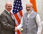 NSA, US, Lt. Gen. H.R. McMaster calls on the Prime Minister, Narendra Modi, in New Delhi on April 18, 2017.