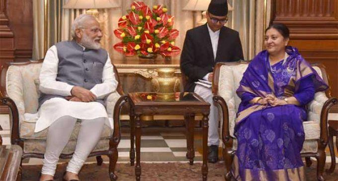 Modi holds 'fruitful talks' with Nepal President
