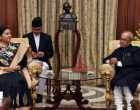 Nepal President calls on Mukherjee