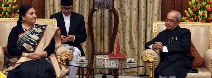 Nepal President calls on Mukherjee
