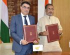 Minister for Agriculture and Farmers Welfare, Radha Mohan Singh and the Minister of Agriculture, Rural Development and Environment, Cyprus, Nicos Kouyialis