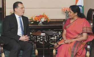 Minister of State for Commerce & Industry,Nirmala Sitharaman,Minister of Energy, Commerce, Industry and Tourism, Cyprus, Yiorgos Lakkotrypis,bilateral meeting