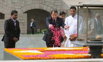President of the Republic of Cyprus, Nicos Anastasiades,Samadhi of Mahatma Gandhi, Rajghat