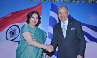 Glimpses from Greek National Day Reception held on 24 March 2017 at the Embassy of Greece in New Delhi