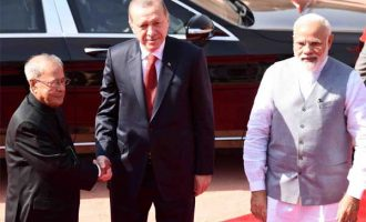 Turkish President Erdogan accorded ceremonial welcome