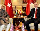 Vice President, M. Hamid Ansari calling on the President of the Republic of Turkey, Recep Tayyip Erdogan