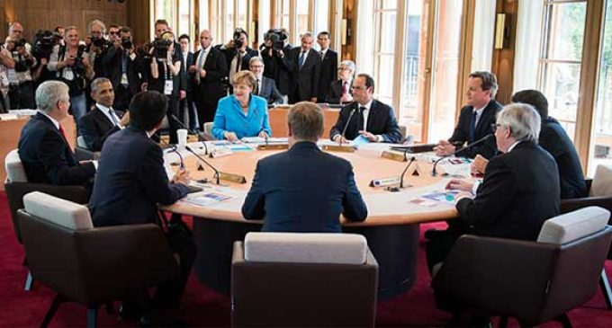 First working session of G7 finance summit begins