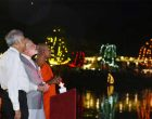 Modi lights up lamps at Sri Lankan temple