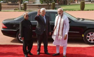 Palestine President accorded ceremonial welcome