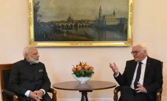 Prime Minister, Narendra Modi calls on the President of Germany, Frank-Walter Steinmeier, at Castle Bellevue