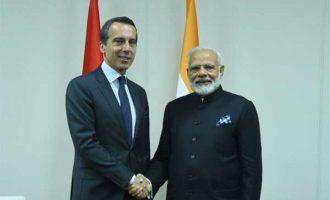 Modi meets Austrian Chancellor